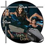 The Vampire Diaries Nina Dobrev Ian Somerhalder Paul Wesley Tapis De Souris Ronde Round Mousepad PC
