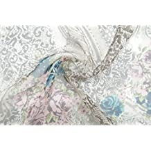 """Digital impreso 44""""ancho 8mm de India y Floral Patrón 100% natural gasa tela de seda, 1 metro"""