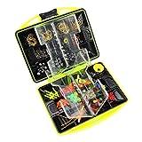 Morelyfish Aggiornamento Attrezzi da Pesca di plastica stabilita Pesca Tackle Strumenti Box Suit Kit Gancio Accessori Outdoor
