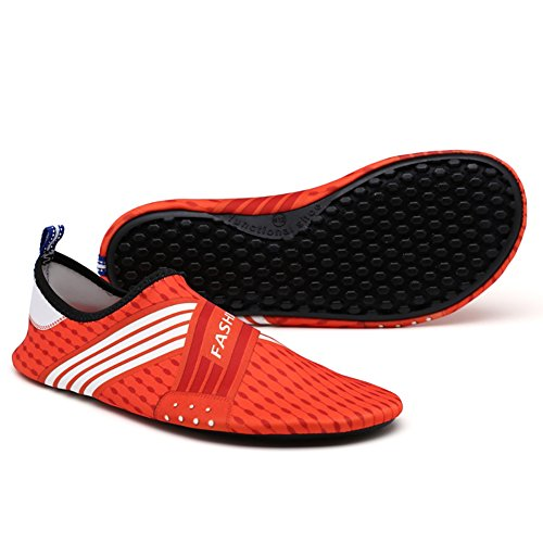 Moresave Unisexe Eau Skin Shoes Aqua Chaussettes pour plage Swim Surf Jogging Home pilote Yoga Fitness d'exercice Orange