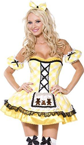 Smiffy's - Goldilocks - Boutique Fieber Kostüm für Erwachsene - Kleine