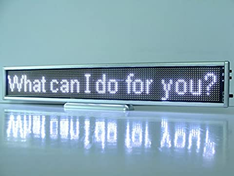 13.4inch P2.5 Led Light Text Message Scrolling Running Sign Store Display/Business Advertising Publicity Screen Tag /Programmable Rechargeable