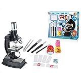Yvsoo Microscope Enfant 900X Kit de Microscope avec Lampe Jeu Scientifique Jouet éducatif Cadeau pour Enfant