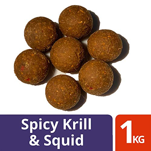 Ourons 20mm Spicy Krill & Squid Premium Tested Fishing Boilies 1kg