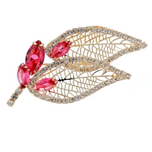 Janeo Brooches & Pins   14 carati  rosso su oro 14 carati     Cristallo