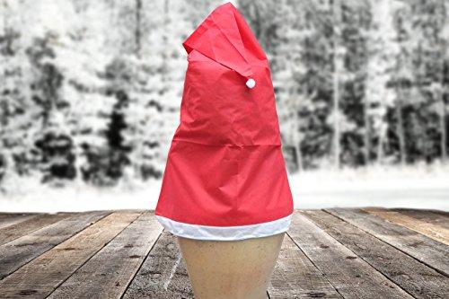 s-Mütze für Pflanzen 100 x 180 cm (Ø x H) 50 g/m² Wetterschutzhaube Vlieshaube Frostschutz Wetterschutz Weihnachtsmütze Vlies (Vlies Nikolausmütze)
