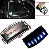 Diebstahlsicherung für Auto / Fenster SOLAR Alarmanlage Dummy 6 blau blinkende LED, universal