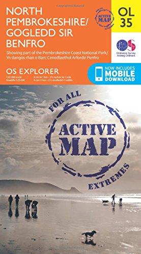 OS Explorer ACTIVE OL35 North Pembrokeshire/Gogledd Sir Benfro (OS Explorer Map)