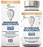 New Magnesium Bisglycinate | 1000mg Dose / 500mg Capsules | 120 Capsules /