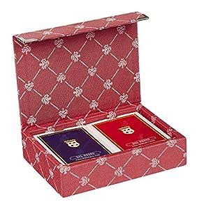 Dal Negro 804526-Puerta Tarjetas de Juegos Prestige Color Poker y Ramino, Rojo