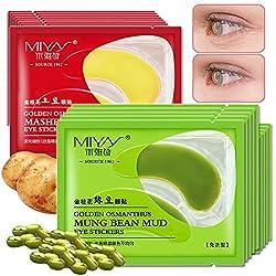 Generic 10 Pair Mung Bean Collagen Eye Mask + Potato Dark Circle Eye Mask Eye Bag Anti Aging Anti Wrinkle Eye Fine Lines Skin Care Face