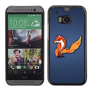 Smartphone-Schutzhülle Hartschalen-Tasche Hülle HandyHülle für Mobiltelefon HTC One M8 / CECELL Phone case / / Fox Tail Animal Forest Fairytale White Red Art /