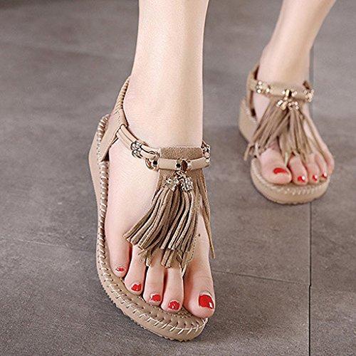 Moda Con Scarpe Nappe Stile Minetom Sandali Coreano Della Focaccina Kaki Sandali Donne Estate WPqv6P4f18