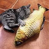 Katzen Spielzeug, NNIUK Katze Fake Fisch Katzenminze Simulation Plüsch Fisch Form für Pet to Chew Bite Supplies(2 Stück)
