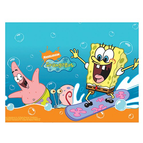 ff Spongebob Schwammkopf Tischdecke, 1,8m x 1,2m ()