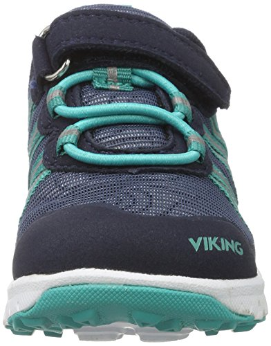 Viking Holmen, Chaussures Multisport Outdoor mixte enfant Blau (Navy/Green)