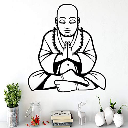 BailongXiao Buddhistischer Umweltschutz Vinyl Aufkleber Kühlschrank Aufkleber Wandaufkleber dekorative Wandbilder 54x59.4cm