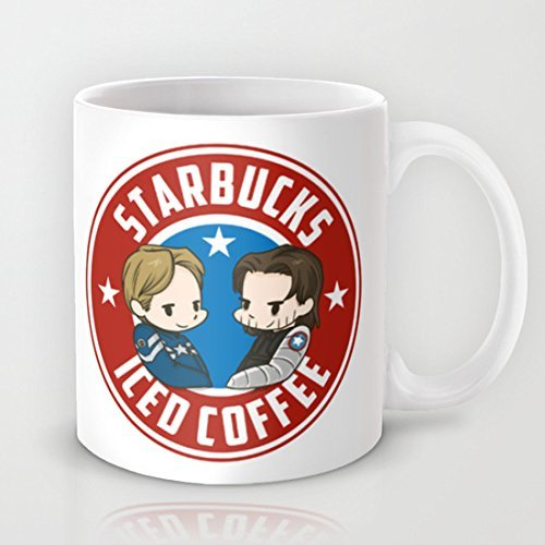 Starbucks - Steve Rogers and Bucky Barnes Iced Coffee Mug Unique?Coffee?Mug?Gift Ceramic Material Personalized Mug-SO100480595 by Dikouen