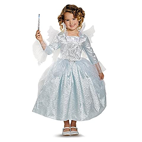 Disguise Womens Girls Deluxe Cinderella Fairy Godmother Fancy dress costume Small