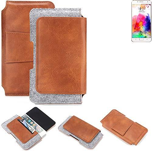K-S-Trade Gürteltasche für Hisense A1 Gürtel Tasche Schutz Hülle Hüfttasche Belt Case Schutzhülle Handy Hülle Smartphone Sleeve aus Filz + Kunstleder (1 St.)
