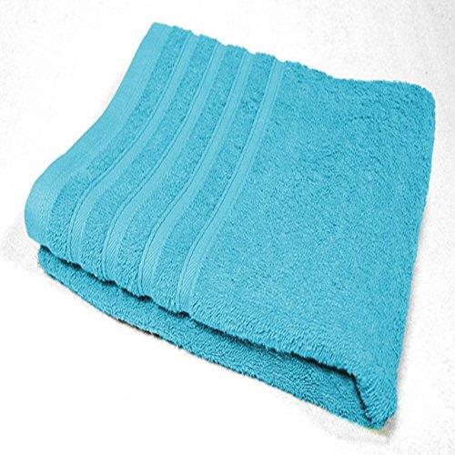 Douceur d'Intérieur Vitamine Serviette de Toilette 450 g Coton Uni Turquoise 50 x 90 x 90 cm