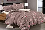 Magnetic Shadow Cotton AC Comforter Duvet Set with Bedsheet - Queen Size, Multicolour