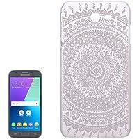 Housse Etui Coque Pour Samsung Galaxy J3 (2017) / J327, étui protecteur transparent pour ordinateur portable Mesh Flower Pattern ( SKU : Sas2982j )