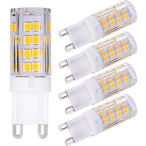 LIHAO 5x LED Lampe G9 3.5W Warmweiß 350LM 220V AC (vgl.30W Halogen)