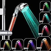 Rovtop Alcachofa Ducha Led,Cabeza de Ducha Cambiando LED 7 Colores Automáticamente, No Necesita Pilas