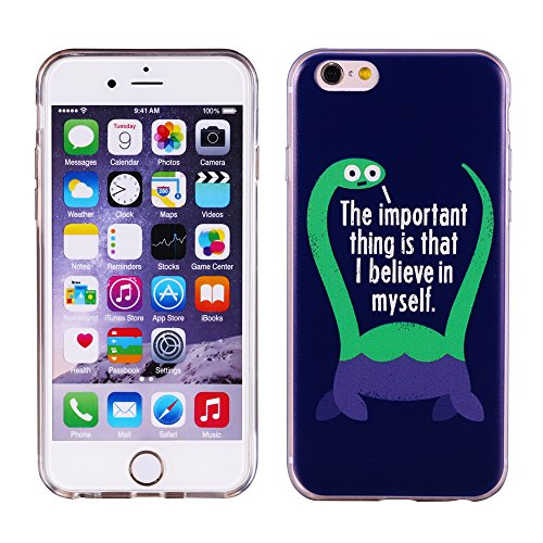 "iPhone 6/6S Coque Gel Souple solide avec impression fantaisie pour Apple iPhone 6/6S (4,7"")(Mountainstree) BelieveinMyself"