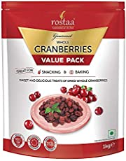 Rostaa Cranberry Whole 1 kg (Pack of 2)