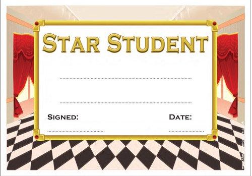 30x Star Student Zertifikat Awards für ältere Schule Kinder. überzeugt durch Theatre/Stage design -