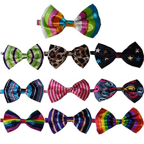 Beetest® 10 Pz Carino Bambini Regolabile Bowties / Collare Cravatta per Gatto Cane Accessori, Colore Casuale - Cane Carino Travestimenti