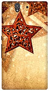 The Racoon Grip star hangings hard plastic printed back case / cover for Sony Xperia Z