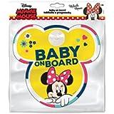 Disney 9613 Lavagna con Ventosa Gancio Baby On Board Minnie