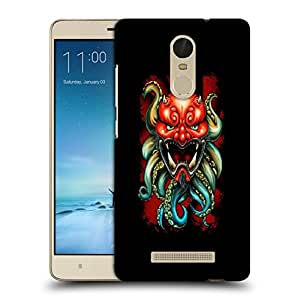 Snoogg Red Monster With Octapus Designer Protective Back Case Cover For REDMI NOTE 3