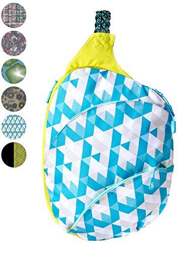 Slope Sling Rucksack für Frauen mit 13 Zoll Laptoptasche eine Schulter Crossbody Tasche, Damen, Maui Tiles - Mini-slingbacks