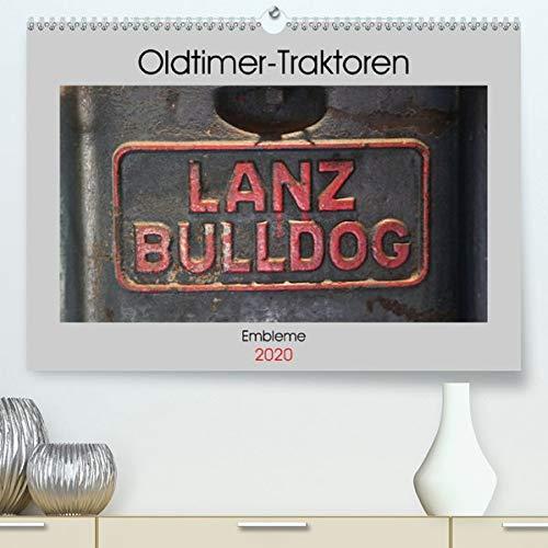 Oldtimer Traktoren - Embleme(Premium, hochwertiger DIN A2 Wandkalender 2020, Kunstdruck in Hochglanz): Embleme und Schriftzüge von Oldtimer-Traktoren (Monatskalender, 14 Seiten ) (CALVENDO Hobbys)