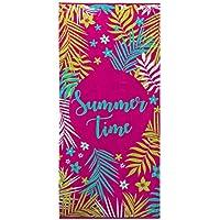 Ligne Décor toalla de playa 70x 150cm esponja terciopelo imprime Sunny Time, algodón, multicolor, 150x 70cm