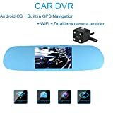 Dash Cam Videocamera per Auto KKmoon 5 pollici Car DVR Dashboard Camera Android Navigatore GPS Doppia Lente Telecamera per Auto...