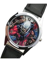 ANT-Man imagen redondo Dial reloj de cuarzo con esfera analógica y de alta calidad grano de vacuno correa de piel Real