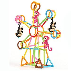 See Saw Playset For Baby Monkey Playset,Y56 80PCS Create Playground Assorted Climbing Jungle Gym Monkey Climbing Entertaint Platform For Baby Monkey, Baby Monkey Climbing Stand/Baby Monkey Playset