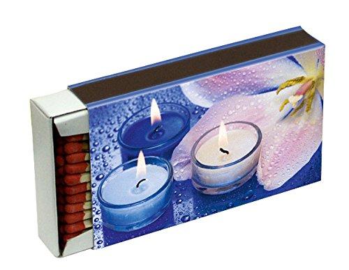 10 Schachteln à 50 Zündhölzer für Grill, Kamin und Kerzen Camino 10 cm (500 Streichhölzer), Motiv Kerzen KM Match Art. 1521/s