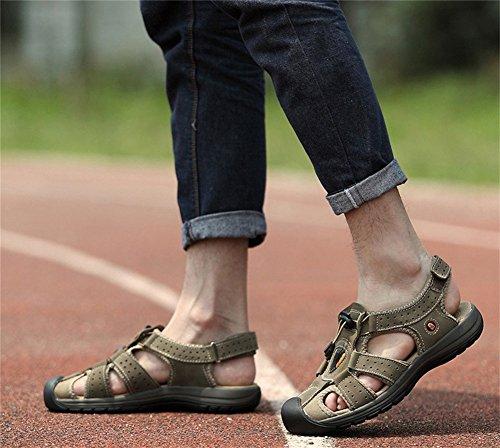 Insun Hommes Sandales De Marche Chaussures De Randonnée Marron Foncé