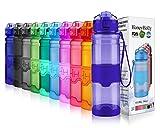 Botella de agua HoneyHolly Sports - 400 / 500 / 700 / 1000ml - Sin fugas de BPA y respetuoso del...