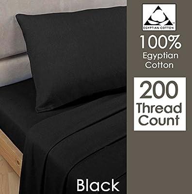Rayyan Linen's 100% Egyptian Cotton Pair Of Pillowcases T 200 Thread Count 50 X 75 Cm