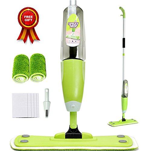 Scopa lave spray mop home icon con serbatoio dell'acqua nascosto e a tenuta stagna con 2 pezzi di ricambio e 5 pezzi di lavapavimenti gratuiti | di joywell (verde)