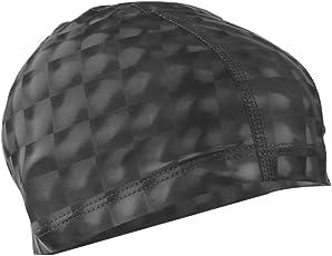 Magideal Unisex Waterproof Breathable Swimming Cap for Long Hair Short Hair Yellow
