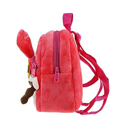 FakeFace Kleinkind Baby Plüsch Schulrucksack Cartoon Schulranzen Niedlich Design Rucksack für Kindergarten Outdoor Pink