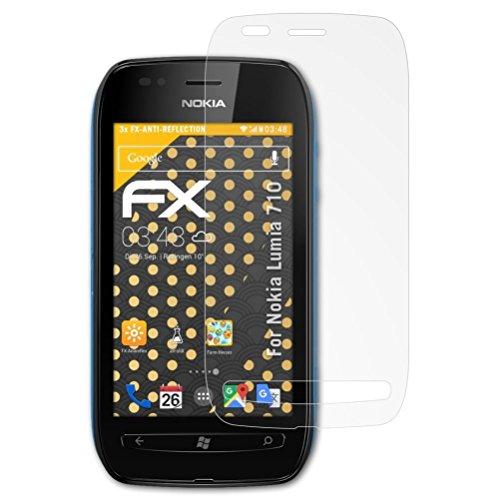 kompatibel mit Nokia Lumia 710 Schutzfolie, entspiegelnde und stoßdämpfende FX Folie (3X) ()
